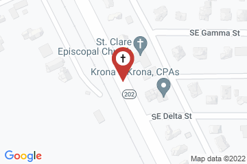 Map of St. Clare of Assisi Episcopal Church