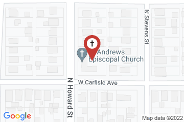 Map of St. Andrew's Episcopal Church, Spokane