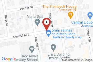 Map of Offices of the Diocese of El Camino Real