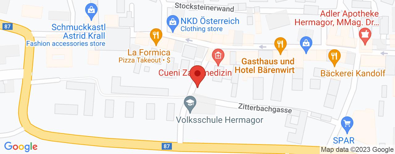 Karte von Bodymed-Center Hermagor