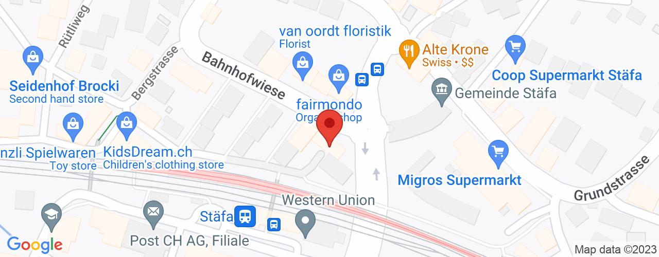 Karte von Bodymed-Center Stäfa - Top Pharm Kranich Apotheke