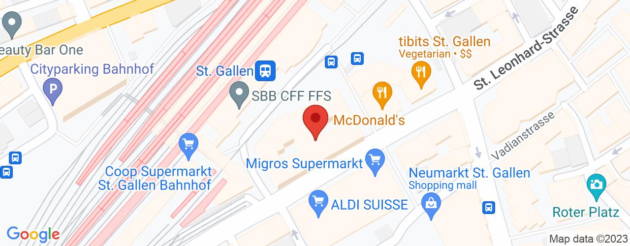 Karte von Bodymed-Center St. Gallen II