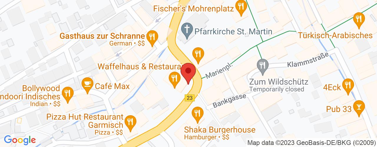 Karte von Bodymed-Center Garmisch-Partenkirchen