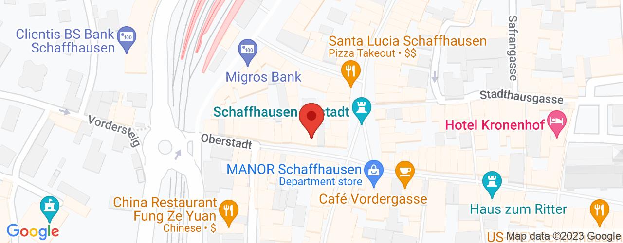 Karte von Bodymed-Center Schaffhausen