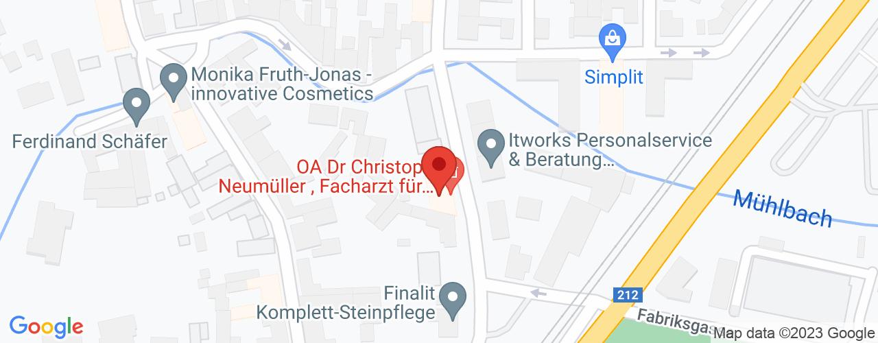 Karte von Bodymed-Center Neuromed Baden