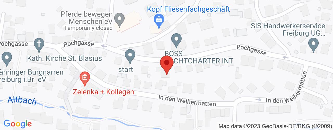 Karte von Bodymed-Center Freiburg-Zähringen