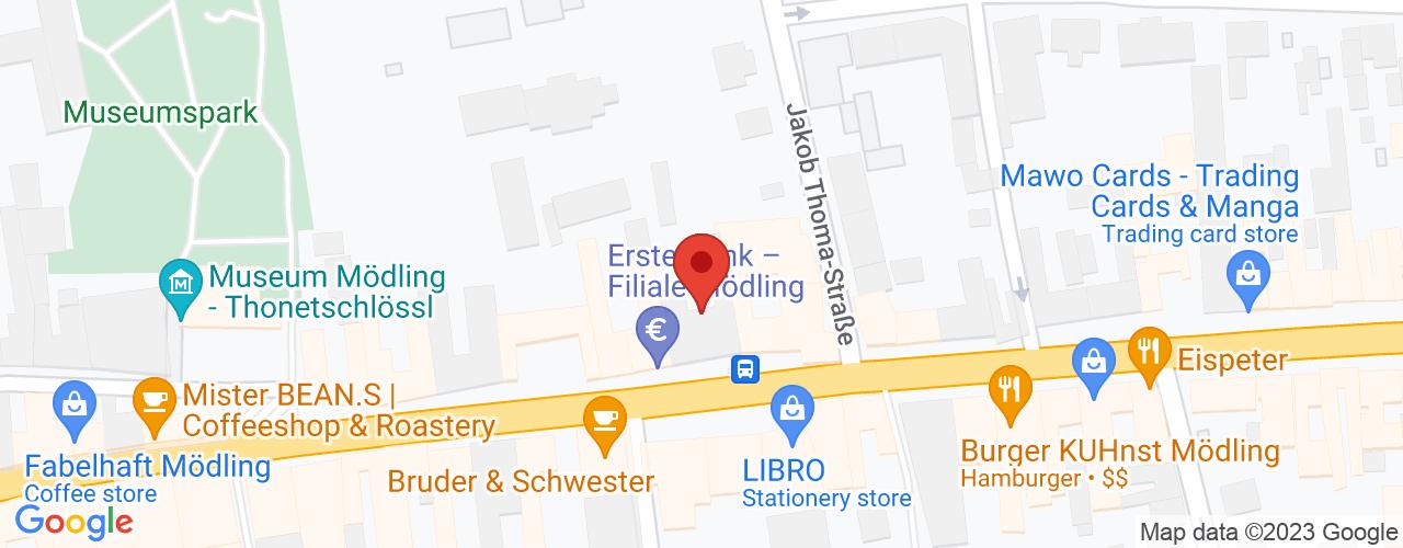 Karte von Bodymed-Center Mödling Hauptstrasse