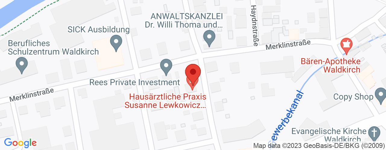Karte von Bodymed-Center Waldkirch