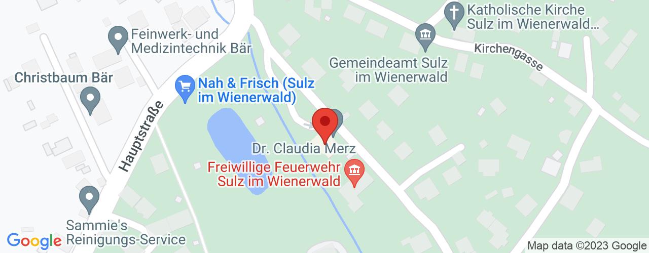 Karte von Bodymed-Center Sulz im Wienerwald