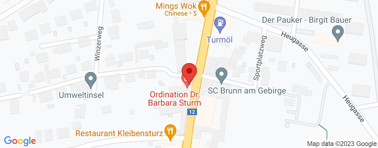 Karte von Bodymed-Center Brunn am Gebirge