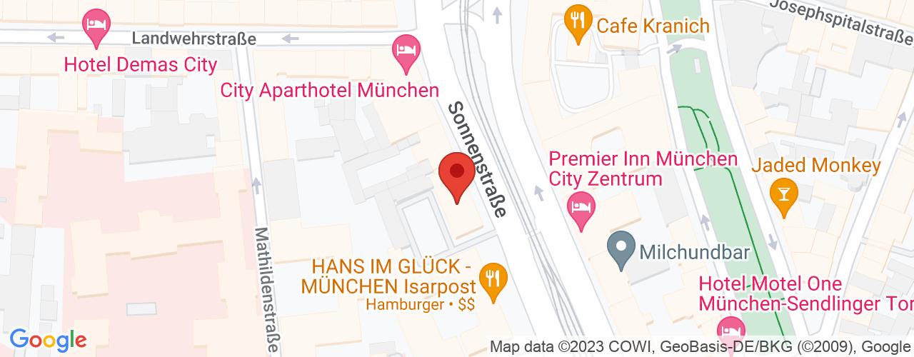 Karte von Bodymed-Center München-Sonnenstraße