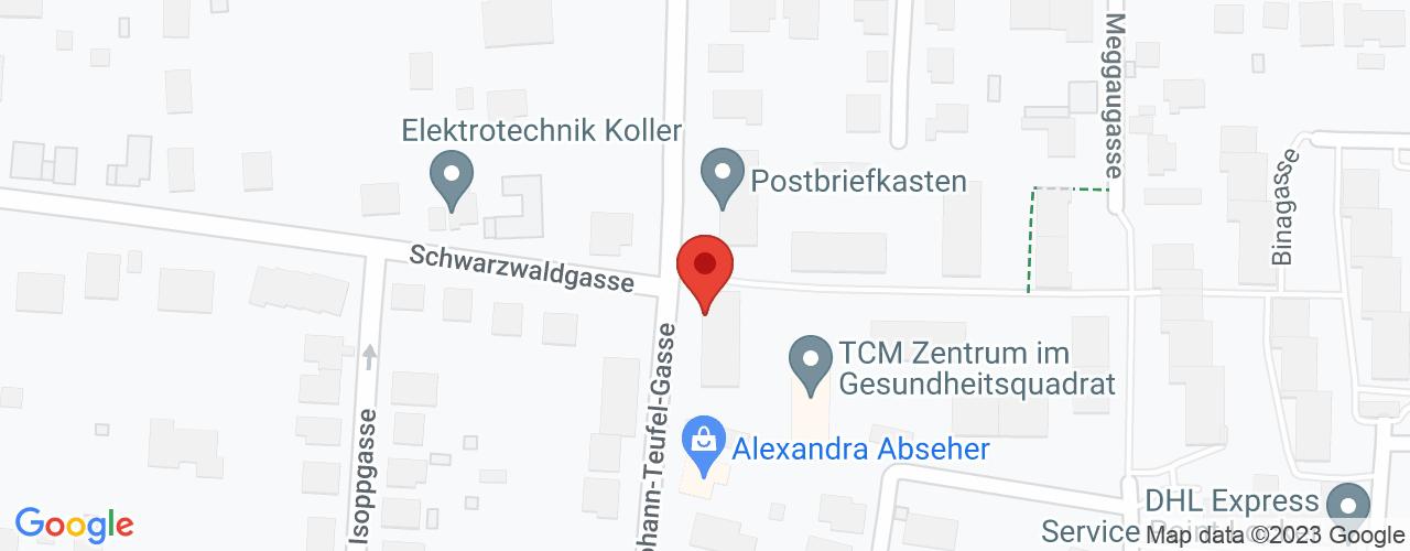 Karte von Bodymed-Center Wien Gesundheitsquadrat