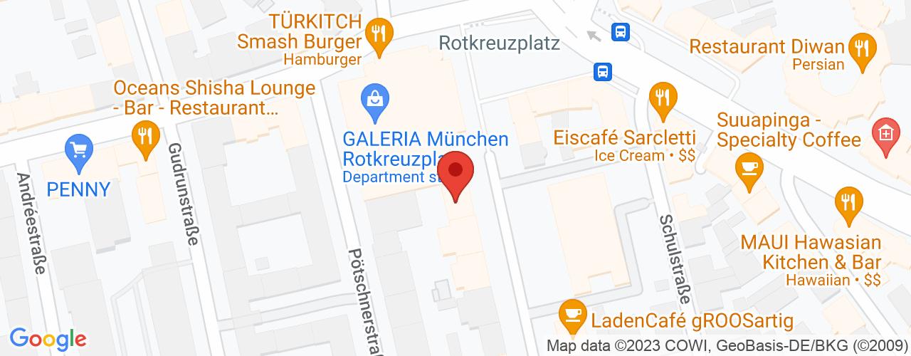 Karte von Bodymed-Center München Apotheke - Rotkreuzplatz