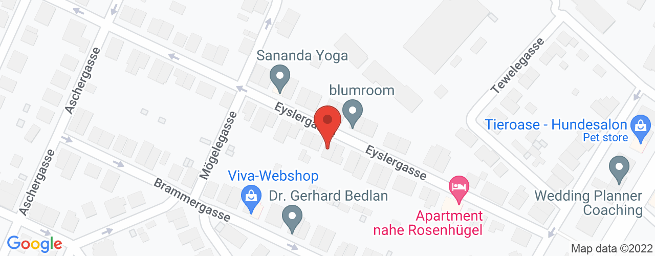 Karte von Bodymed-Center Wien 1130 Eyslergasse