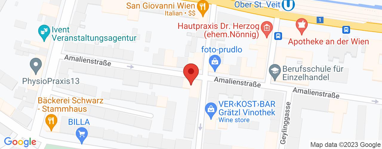 Karte von Bodymed-Center Amalienstra