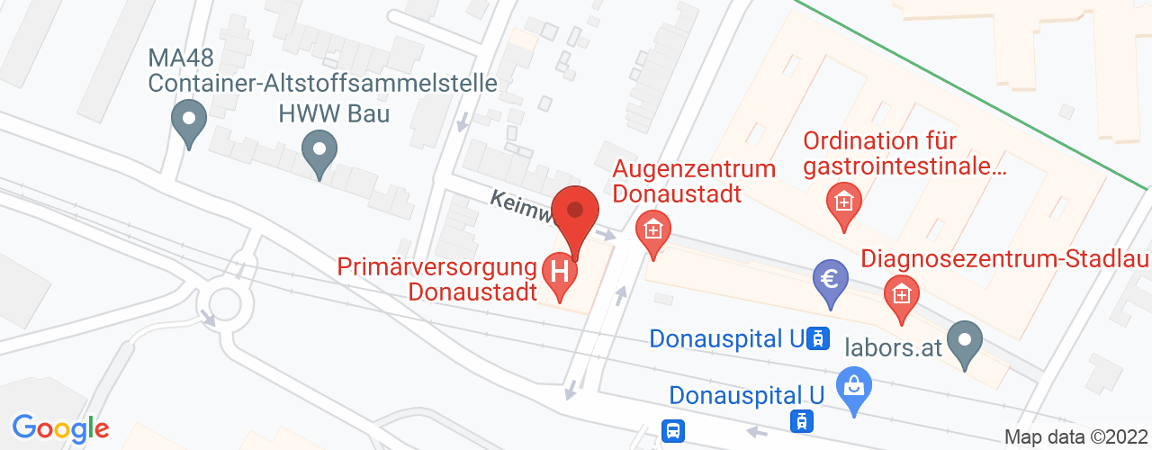 Karte von Bodymed-Center Wien-Zschokkegasse