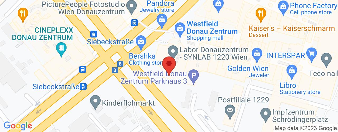 Karte von Bodymed-Center Wien-Donaustadtstrasse