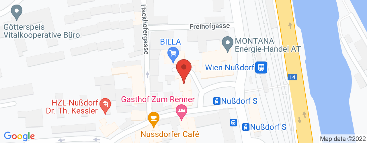 Karte von Bodymed-Center Wien Nu