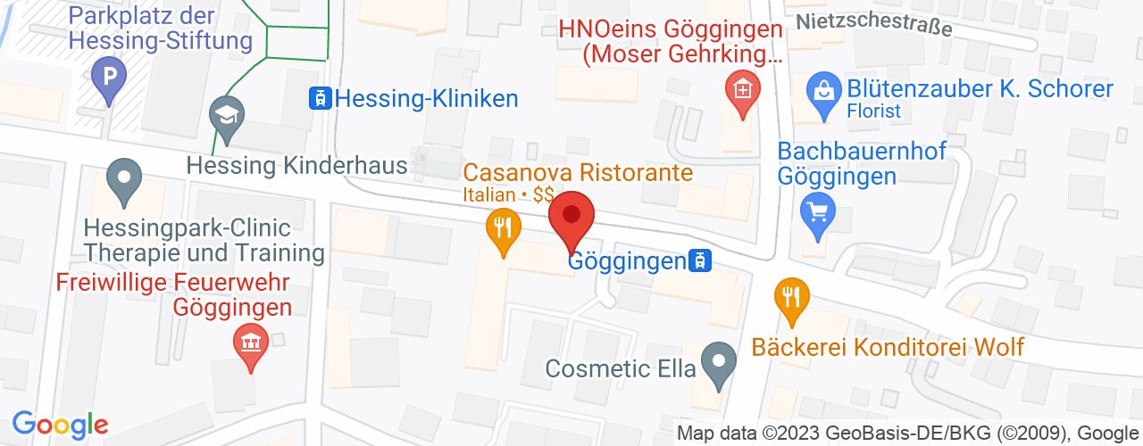 Karte von Bodymed-Center Augsburg-Göggingen