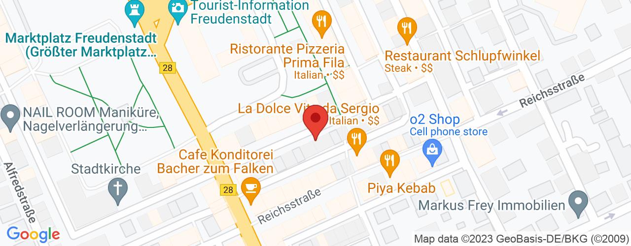 Karte von Bodymed-Center Freudenstadt