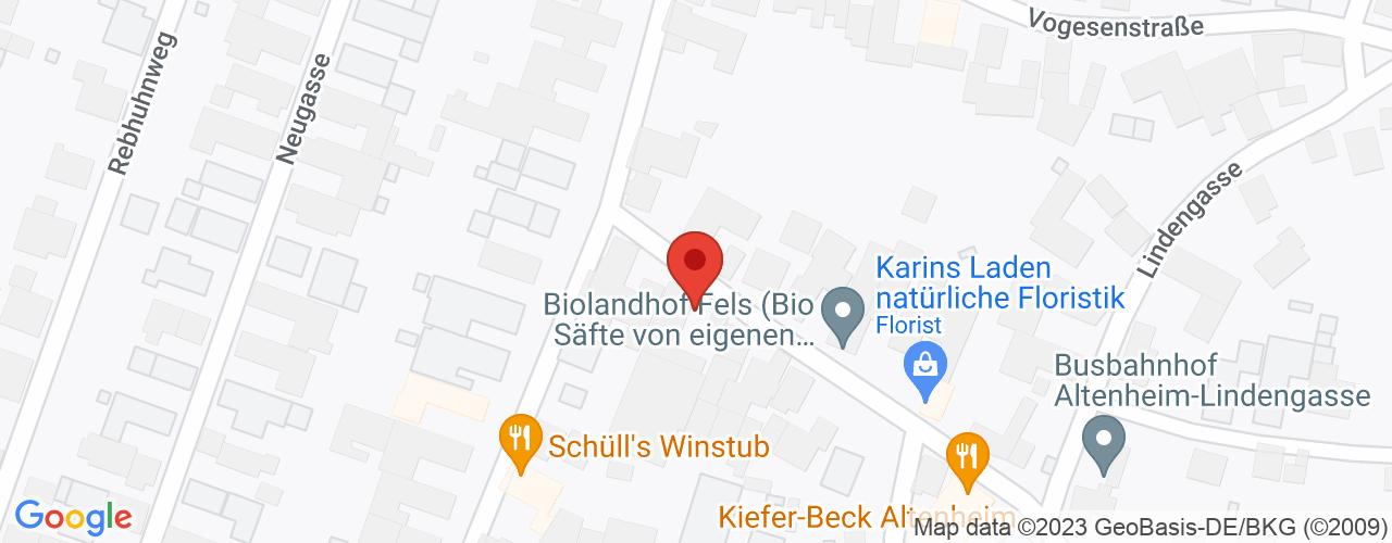 Karte von Bodymed-Center Altenheim