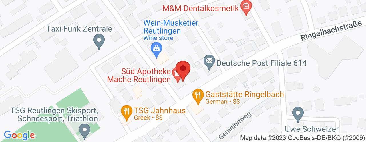 Karte von Bodymed-Center Reutlingen