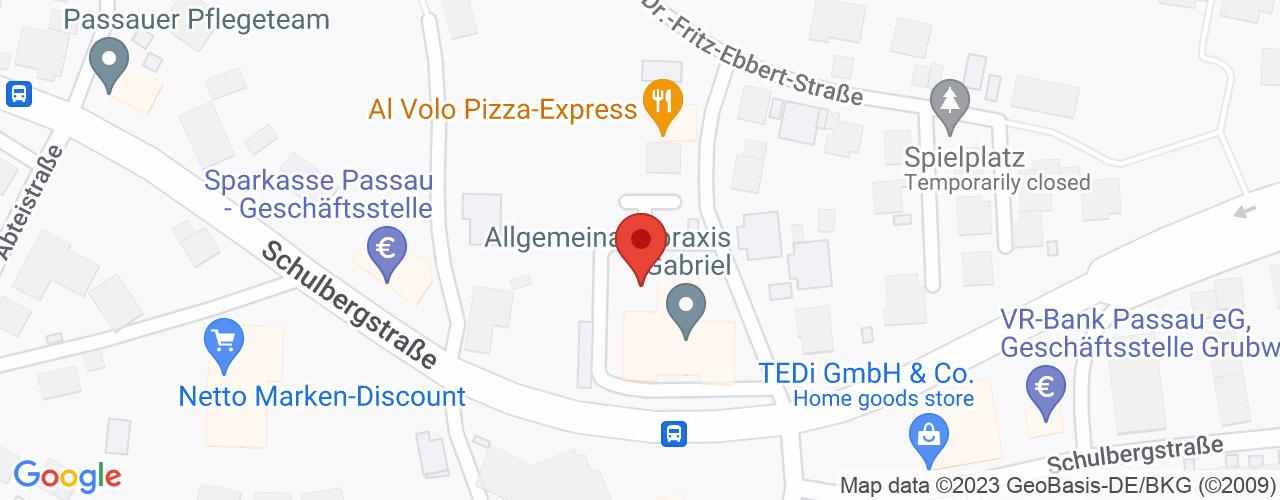 Karte von Bodymed-Center Passau