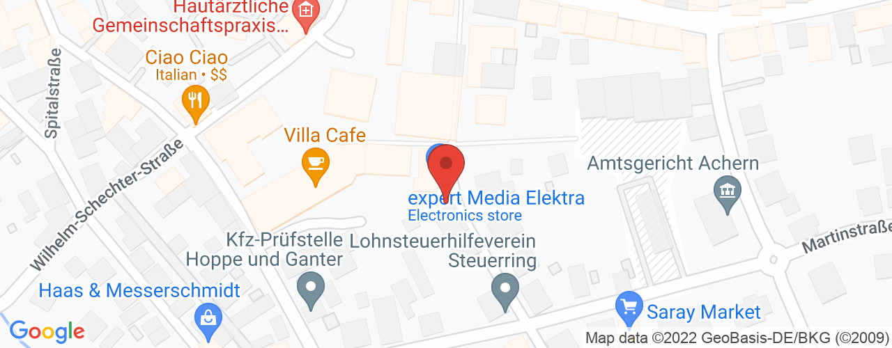 Karte von Bodymed-Center Achern