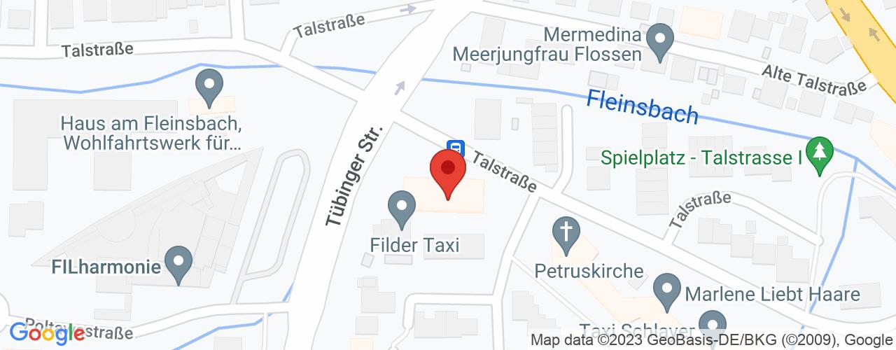 Karte von ♛ PREMIUM Bodymed-Center Filderstadt