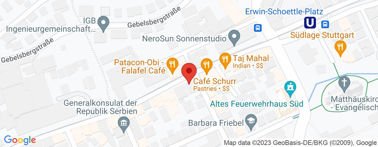 Karte von Bodymed-Center Stuttgart