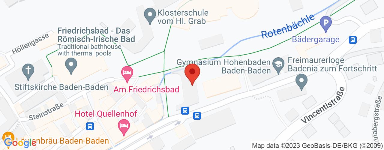 Karte von Bodymed-Center Baden Baden