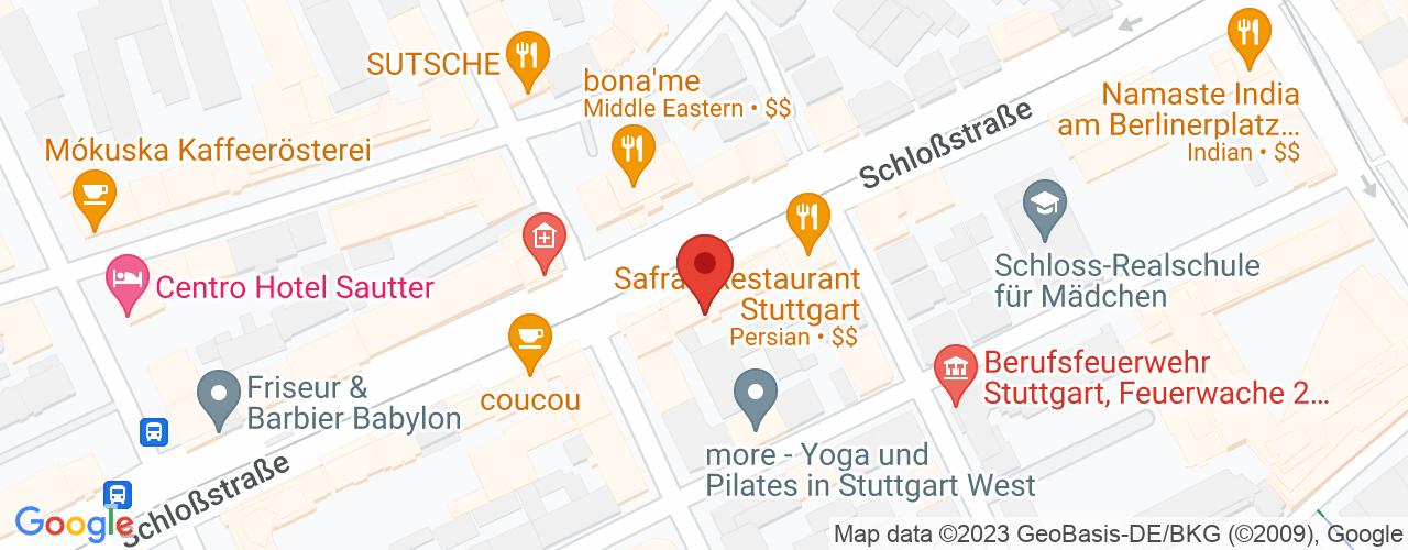 Karte von Bodymed-Center Stuttgart-West
