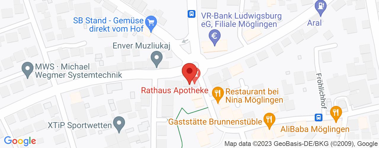 Karte von Bodymed-Center Möglingen
