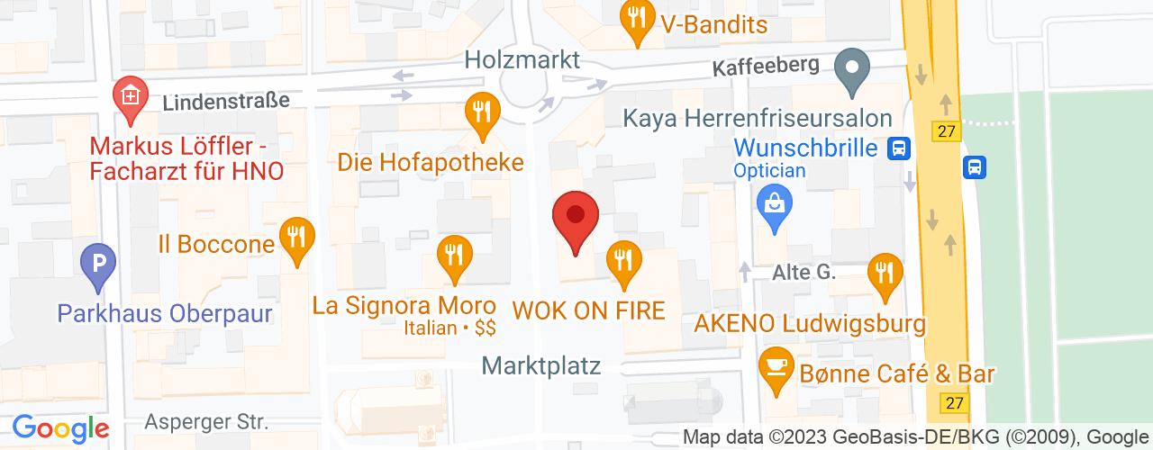Karte von Bodymed-Center Ludwigsburg Mitte