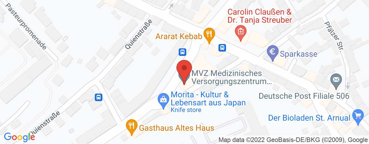 Karte von Bodymed-Center Saarbrücken-St. Arnual