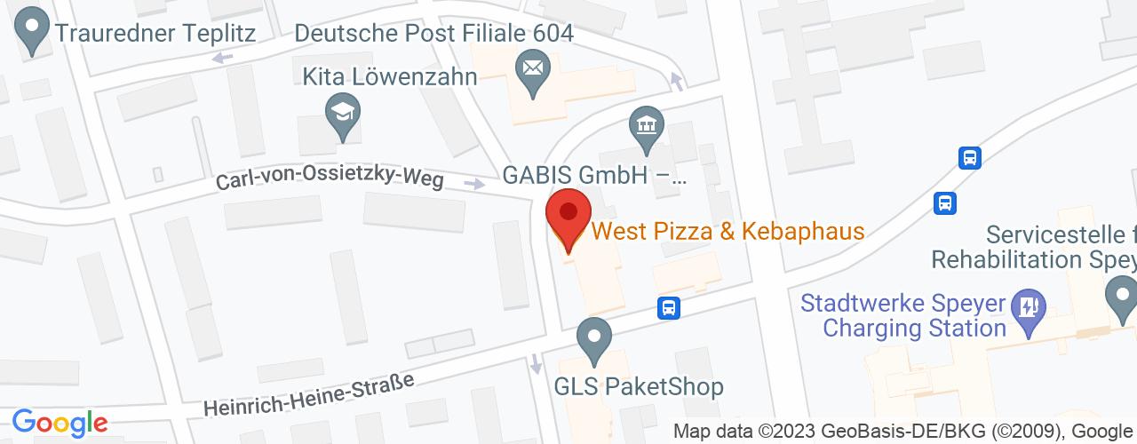 Karte von Bodymed-Center Speyer