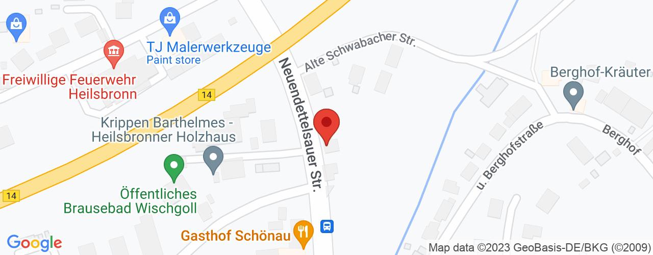 Karte von Bodymed-Center Heilsbronn