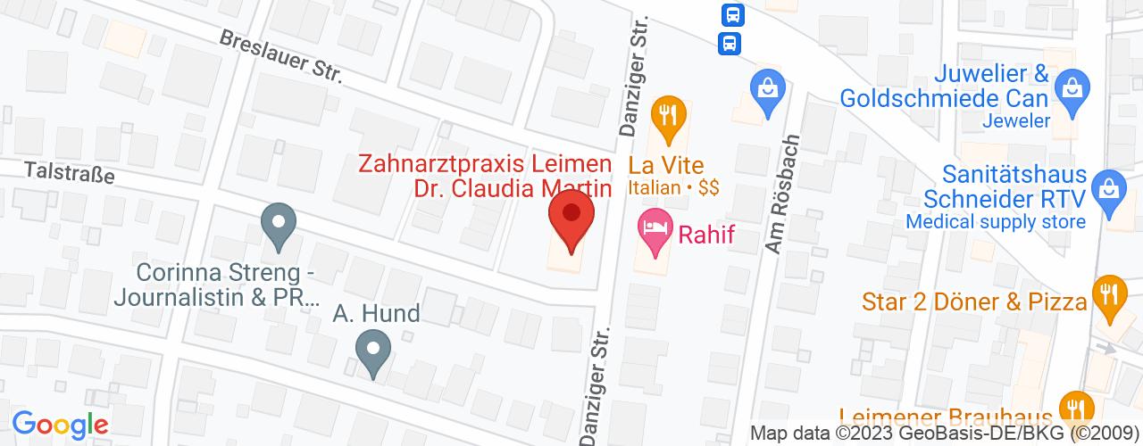 Karte von Bodymed-Center Leimen