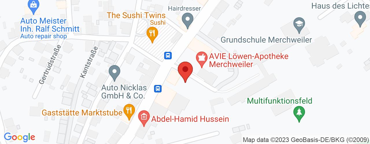 Karte von Bodymed-Center Merchweiler