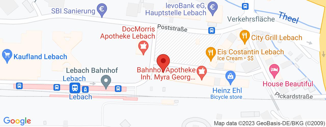 Karte von Bodymed-Center Lebach-Hertrich