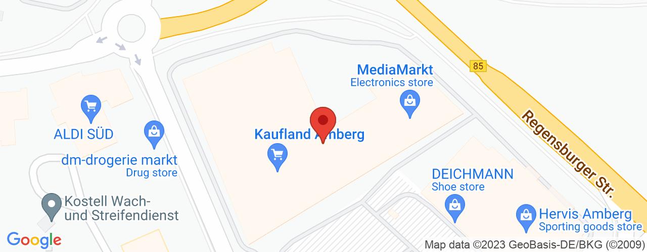 Karte von Bodymed-Center Amberg-Zentrum
