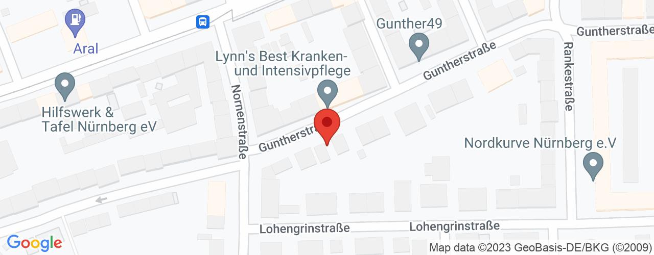 Karte von Bodymed-Center Nürnberg-Süd