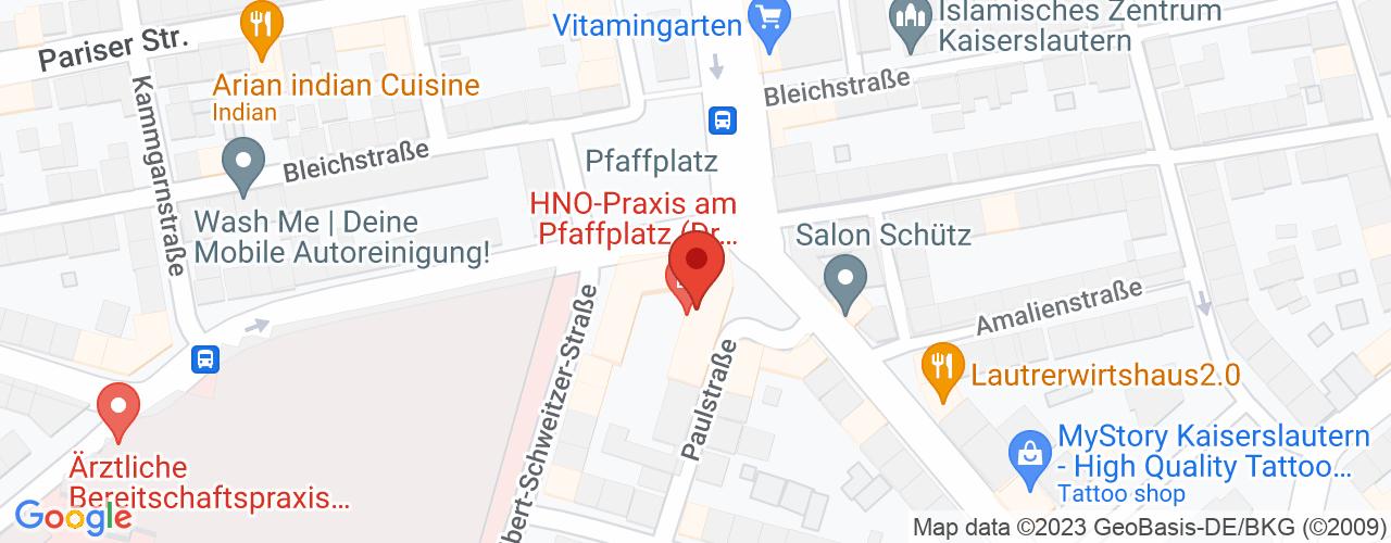 Karte von Bodymed-Center Kaiserslautern Am Pfaffplatz