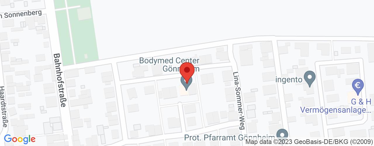 Karte von Bodymed-Center Gönnheim