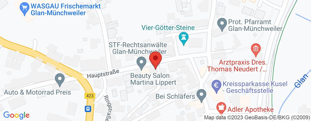 Karte von Bodymed-Center Glan-Münchweiler