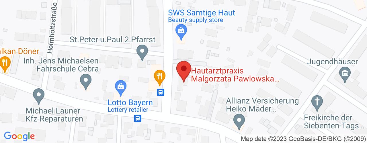 Karte von Bodymed-Center Erlangen Bunsenstrasse