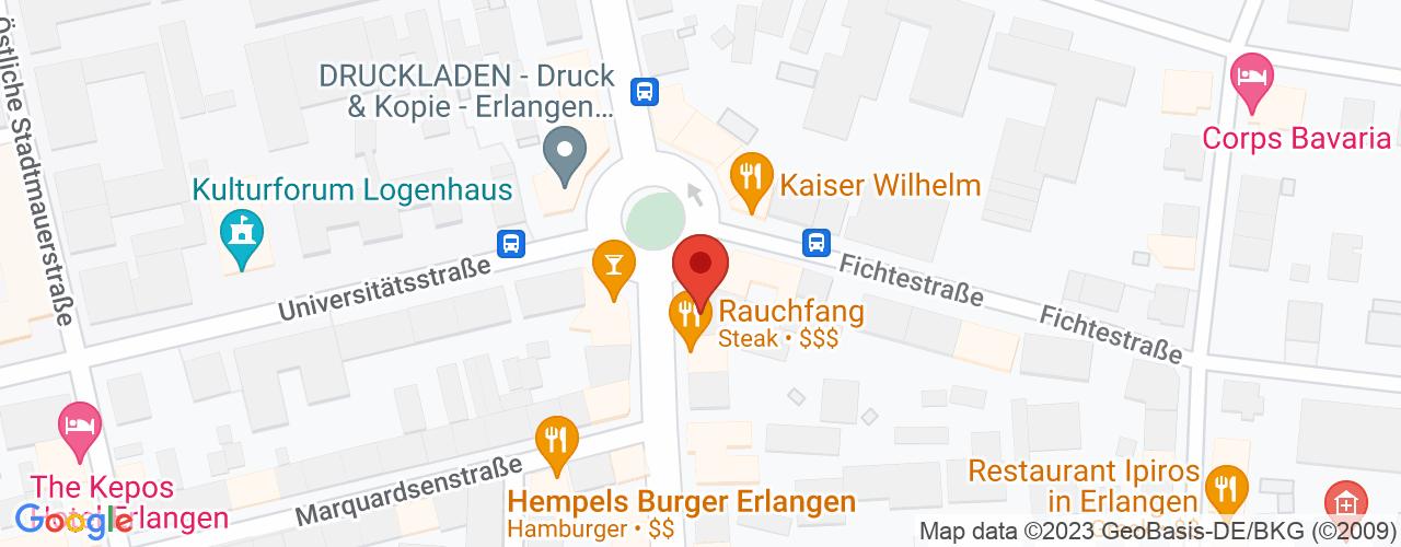 Karte von Bodymed-Center Erlangen