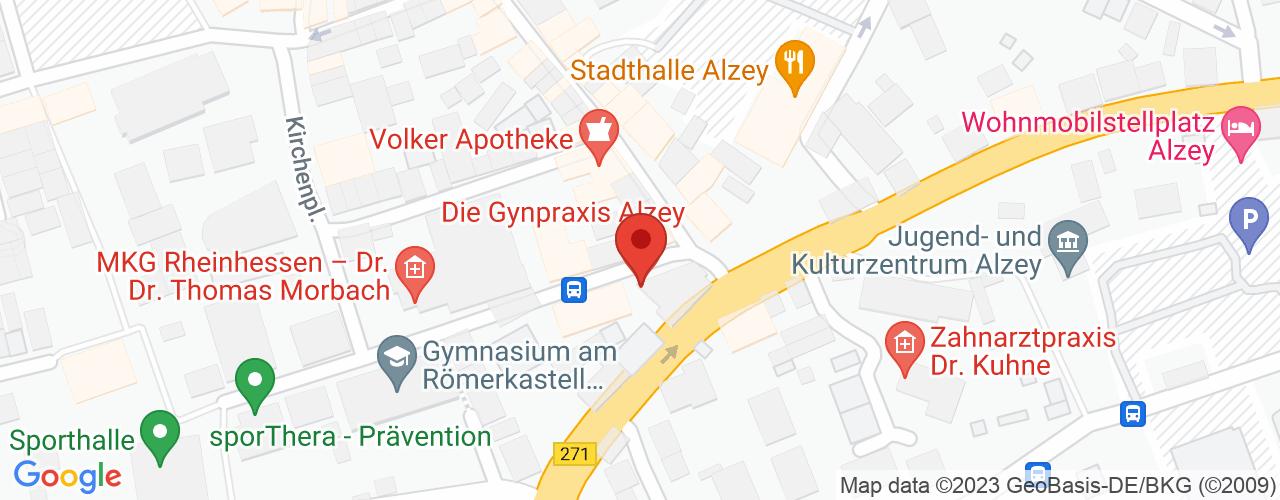 Karte von Bodymed-Center Alzey