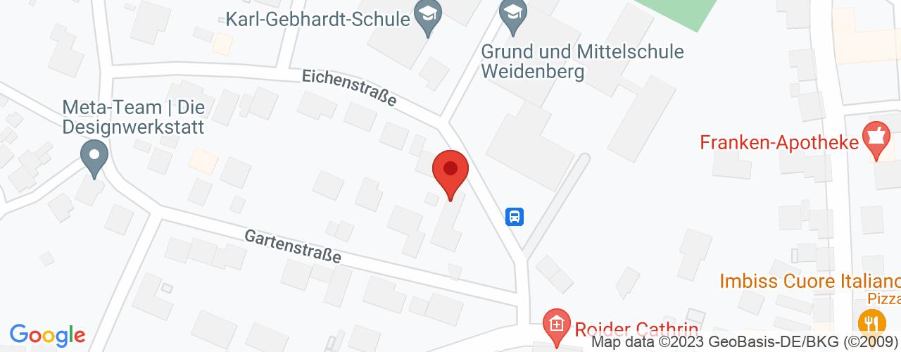 Karte von Bodymed-Center Weidenberg