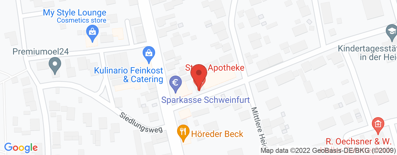 Karte von ♛ PREMIUM Bodymed-Center Schwebheim